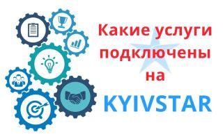 Как узнать какие услуги подключены на Киевстаре