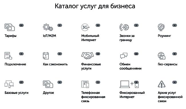 каталог услуг Киевстар для бизнеса